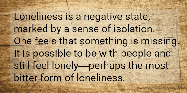 Loneliness vs. Being Alone. The Restless Empire blog